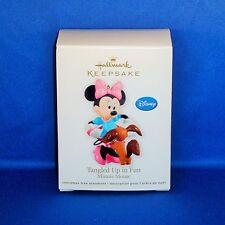 Hallmark - 2012 Tangled Up in Fun Minnie Mouse - Keepsake Christmas Ornament NEW