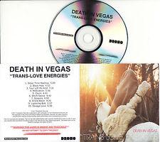 DEATH IN VEGAS Trans-Love Energies UK 10-tk numbered/watermarked promo test CD