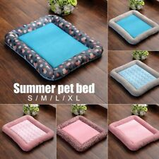 Summer Pet Dog Cat Cooling Mat Sleeping Bed Pads Cushion For Home Kennel Crate