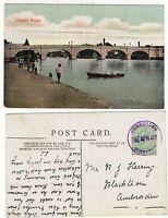 Great Britain cracker AMBROSDEN 1907 violet cancel on KEV11 postcard