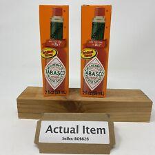 Tabasco Original Flavor Hot Sauce 2 Pack Expiration 09/2022