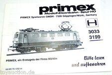 Manual Märklin PRIMEX 3033 3199 68 389 TN 1282 se å
