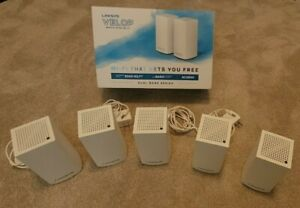 Linksys WHW01 Velop AC2600 Dual-Band Mesh WiFi 5 System In Mint Condition