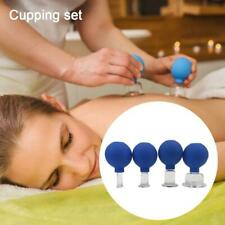 Set 4 Cups Anti-Cellulite Facial Cosmetic Cupping Massage Vacuum Glass Cups