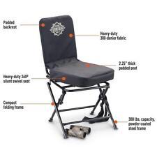 Portable Swivel Hunting Chair Folding Deer Turkey Blind Seat Back Padded Stool