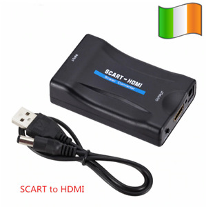 SCART to HDMI Composite Video Converter Audio Adapter for SKY DVD PS3