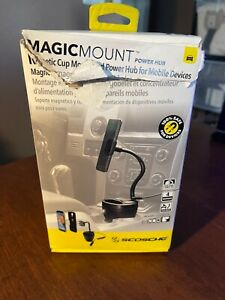 Scosche MAGPCUP, MagicMount Magnetic Cup Mount Power Hub For Mobile Devices