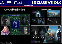 PS4 Dynamic Theme & Avatars | Digital Code | Playstation DLC | Americas / Europe