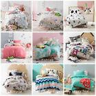 Kids Girls Pink Doona Duvet Quilt Cover Set Single Double Queen Size Bed HICCUPS