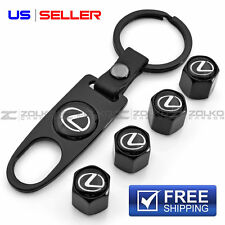 VALVE STEM CAPS KEYCHAIN KEYRING WHEEL FOR LEXUS KEY FOB KEYS VS03 US SELLER