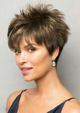 Stunning Short Fluffy Straight Synthetic Fashion Blond/Brown Women Wig Hair