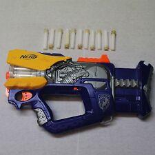 Nerf N-Strike Firefly REV-8  Dart Gun Blaster w/ (11) original darts *IT WORKS*
