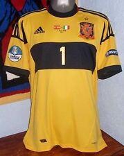 ADIDAS SPAIN EURO2012 CHAMPION CASILLAS GK ORIGINAL SOCCER FOOTBALL JERSEY SHIRT