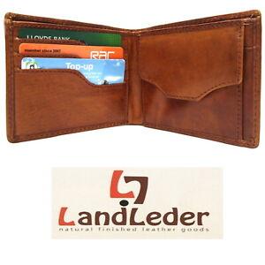 "Landleder Mens Leather Wallet Tan Artisan ""Franke's Garage"" New in Gift Box 1531"