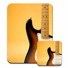 Electric Guitar Detail With Orange Lighting Mouse Mat / Pad & Coaster