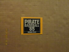 MLB Pittsburgh Pirates Vintage Circa 1985 Style#2 Logo Baseball Pocket Schedule