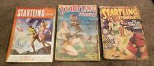 Lot of 3 Vintage Startling Stories Pulps John D. MacDonald Earle Bergey Kuttner