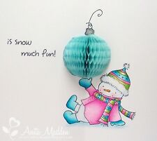 """Inky Antics Clear Stamps - 6"""" x 4"""" - Decorating Snowman Christmas - Honeycomb"""