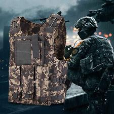 SWAT Police Tactical Military Molle Waistcoat Combat Assault Plate Carrier Vest