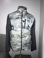 Under Armour Mens Medium Blue Camo Shoreman Hybrid Jacket Coldgear 1327475 995