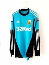 Swansea City Goalkeeper Shirt 2012. Small Adults. Adidas. Blue Football Top Only