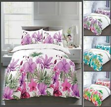 Luxuries LILLY Flowers Design Duvet Cover + Pillow Case Bedding Set All Sizes NZ
