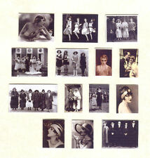 SET OF HAND-MADE DOLLS' HOUSE 1/12TH SCALE 1920'S PHOTOGRAPHS