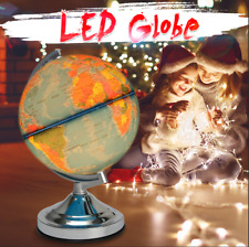 🔥 Illuminated World Globe Map Earth Geography Educational Toy Gift with