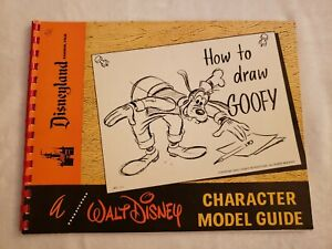 How To Draw Goofy A Walt Disney Character Model Guide Book Vintage Disneyland