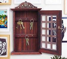 Valentine Day Special Present Wooden Key Box Chex Inlay Work Holder