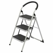 J Burrows 3 Step Ladder 150kg White