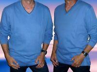 Herren Langarm Sweatshirt, Pullover, Man's World Große Größen, blau, Gr. L- XXXL