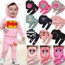 Toddler Kids Baby Boy Girl Outfits Clothes Shirt Tops + Pants 2PCS Set Tracksuit