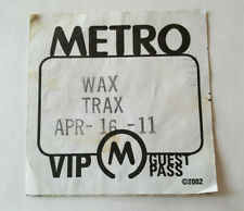 Wax Trax Retrospectacle Festival Guest Pass 4/15/2011 Chicago Metro Lot Of 2