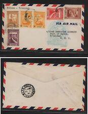 Portugal Guine flight cover to Trinidad  1941