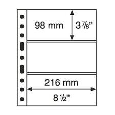 5 Pochettes plastiques transparentes GRANDE, 3 Bandes horizontales  Réf  308439