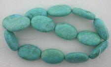 "30x20 Oval Blue Matrix Magnesite Turquoise Bead 16"" Gem Stone Strand 30mm x 20mm"