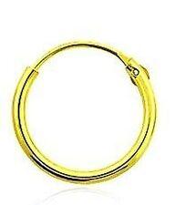 Plata Esterlina 925 Chapados En Oro Con Bisagras Oreja hoop/sleeper 12mm X 1 pendiente