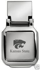 new! Kansas State University ENGRAVED SILVER SPRING MONEY CLIP KSU Wildcats