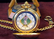 Babe Ruth Signed Facsimile Franklin Mint Gold Pocket Watch W/Chain Original Box