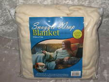 NEW 100% Polyester Snuggle Wrap Blanket Fleece Yellow Hands Free