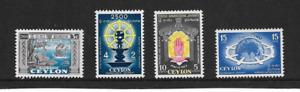 1956 Ceylon - 2500th Anniversary Buddhism - Set of  Four - Mint Never Hinged.