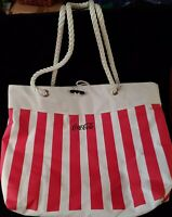 COCA COLA Collectible Advertising TOTE Canvas w/ Generous Nylon Rope Handles