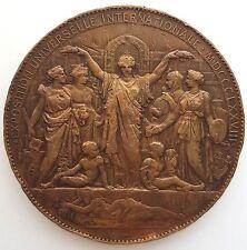 MEDAILLE INAUGURATION DE L'EXPOSITION UNIV. DE PARIS 1878 signée OUDINE (K2)