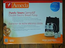 Ameda Purly Yours Carryall Double Electric Breast Pump Nib Factory Sealed