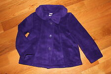 NWT Gymboree Fairy Tale Forest 4T-5T Purple Polar Fleece Bow Swing Coat Jacket
