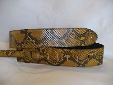 UNIQUE LEATHER YELLOW/BROWN SNAKE GUITAR/BASS STRAP