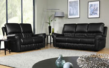 Unbranded Leather Solid Recliner Sofas
