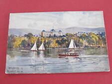 Brisbane Queensland Parliament House Fullwood Artist Drawn Postcard