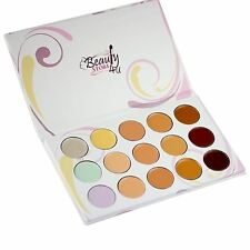 Concealer Palette Under Eye Dark Circles 15 Colours including Yellow Green